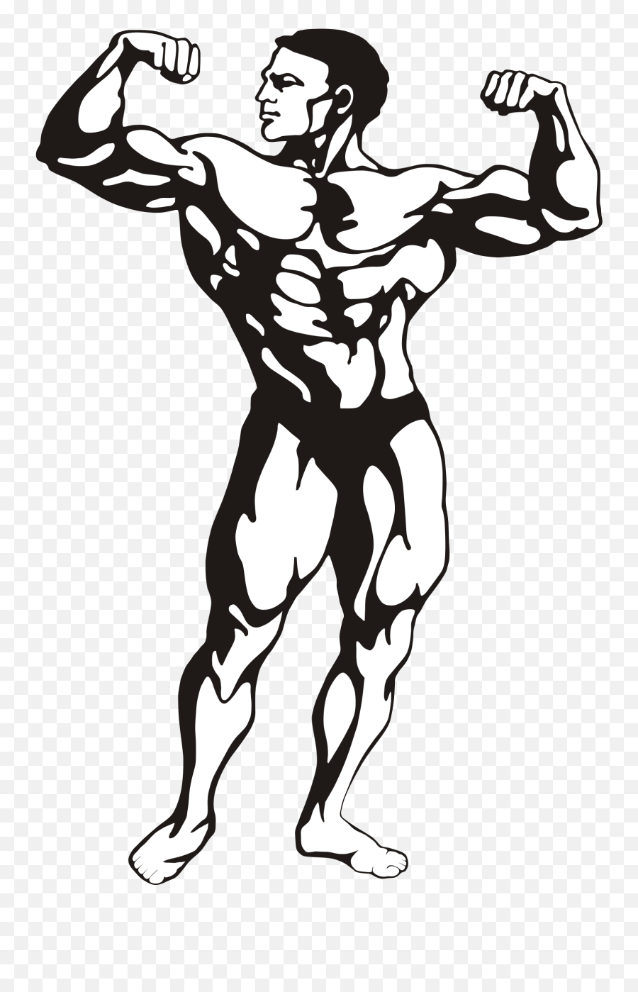 Fitness Model Vector File Image - Body Builder Clip Art Emoji,Apple Gun Emoji