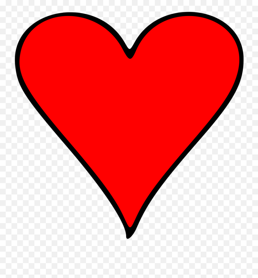 Emoji Illustration Of A Red Heart Pv - Cartoon Heart Transparent Background