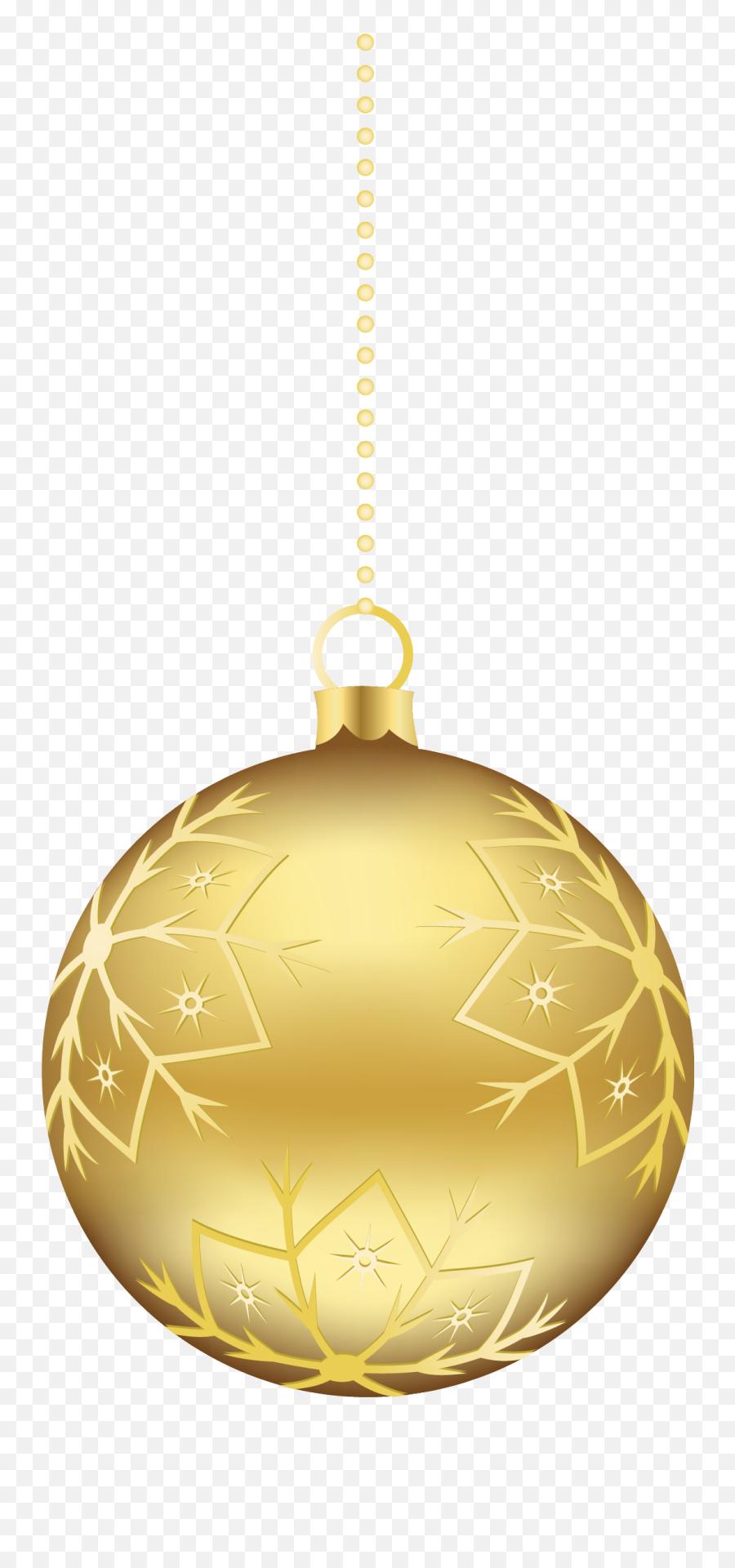 Download Free Png Gold Christmas Ornaments Png Clipart - Christmas Ball Transparent Png Emoji,Emoji Christmas Ornaments