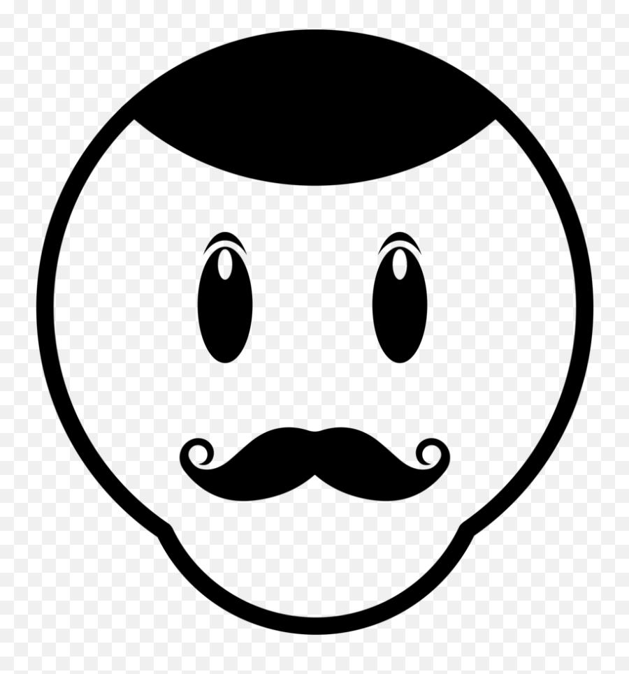 Moustache Emoji Mens Printed T - Smiley
