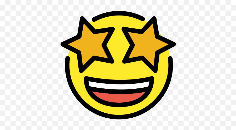 Grinning Face With Star Eyes - Star Eyes Emoji