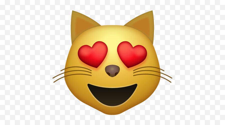Heart Eyes Emoji Cat Png - Emoji Cat