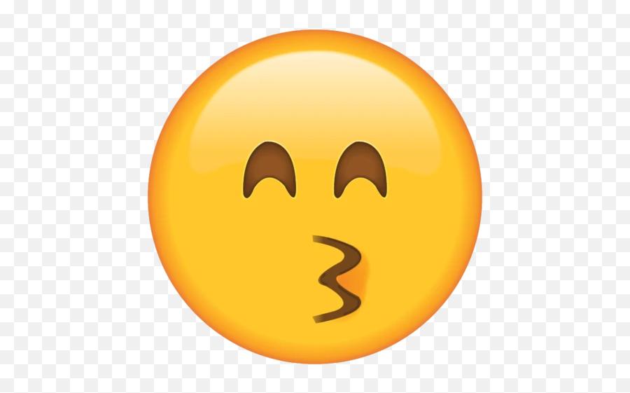 Kissing Face With Smiling Eyes Emoji - Kissing Face With Smiling Eyes Emoji
