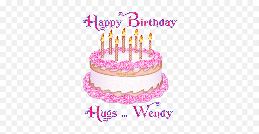 Wendy Name Graphics - Animated Gif Happy Birthday Wendy Emoji