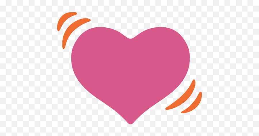 Beating Heart Emoji - Android Emoji Heart Png,Sparkling Heart Emoji