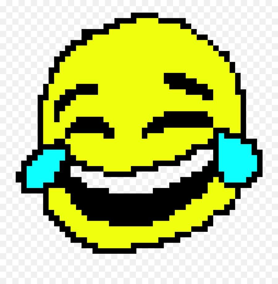 Crying Laughing Emoji - Cry Laughing Emoji Pixel Art,Laughing Emoji