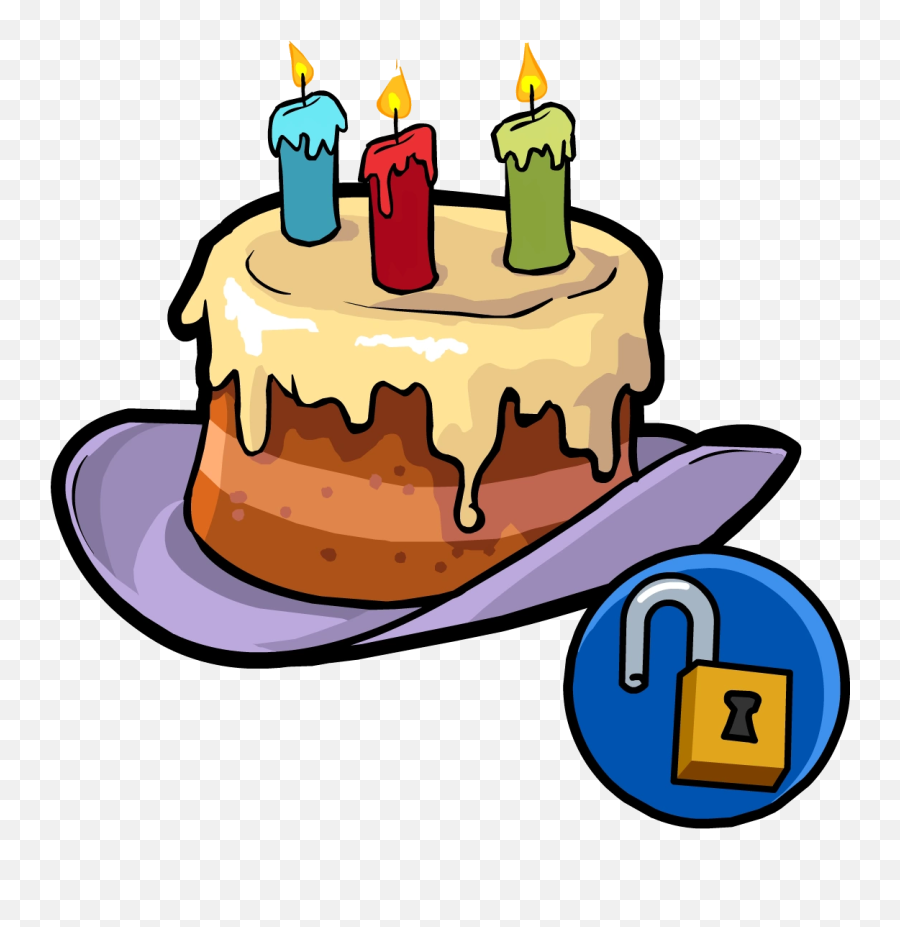 Happy Birthday Hat - Club Penguin Birthday Cake Emoji