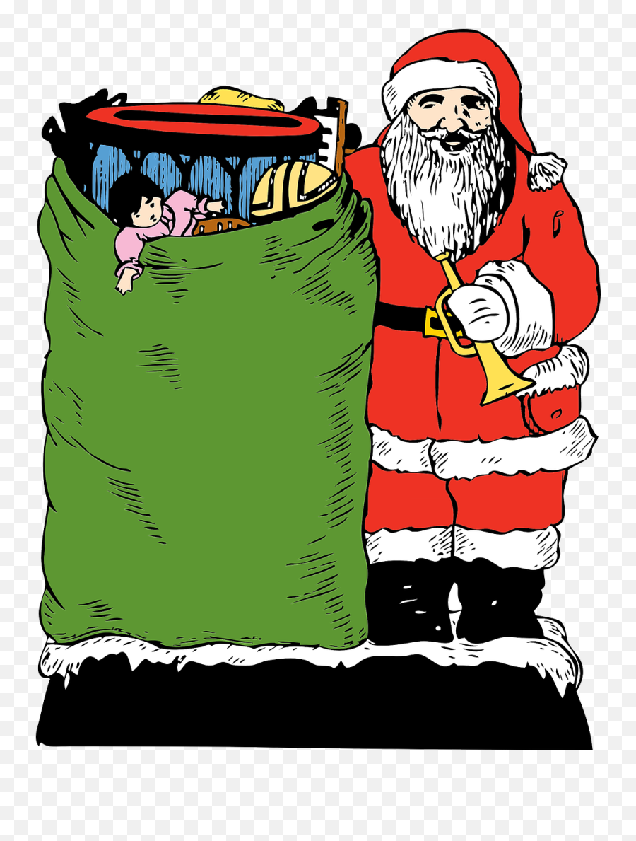 Santa Santa Claus Santa Clause Father - Santa Claus Emoji,Santa Sleigh Emoji