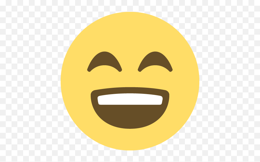 Smiling Face With Open Mouth And Smiling Eyes Emoji Emoticon - Happy Face Emoji Transparent Background
