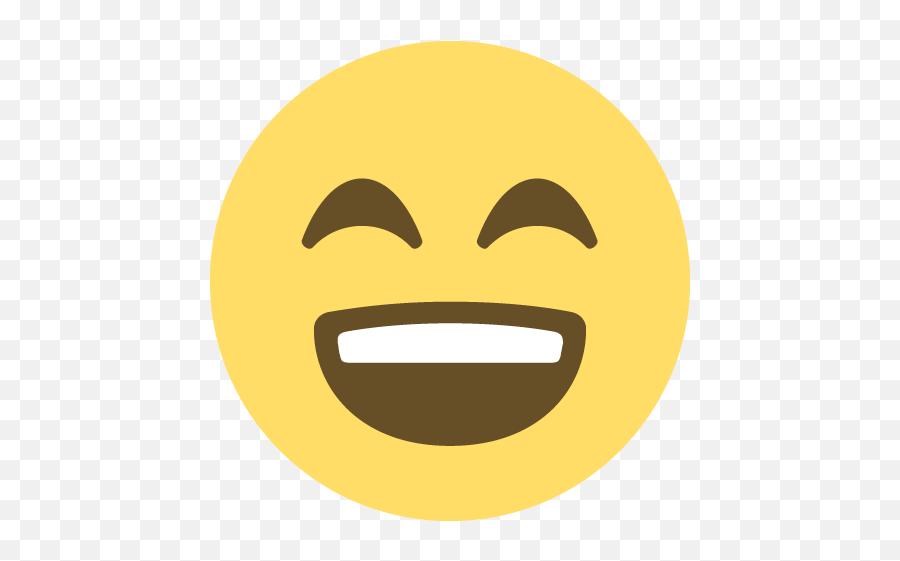 Smiling Face With Open Mouth And Smiling Eyes Emoji Emoticon - Happy Face Emoji Transparent Background,Eyes Emoji