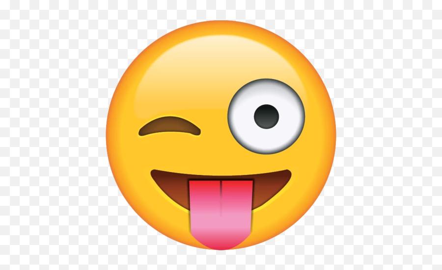 Tongue Out Emoji With Winking Eye - Emoji Tongue Out,Silly Emoji