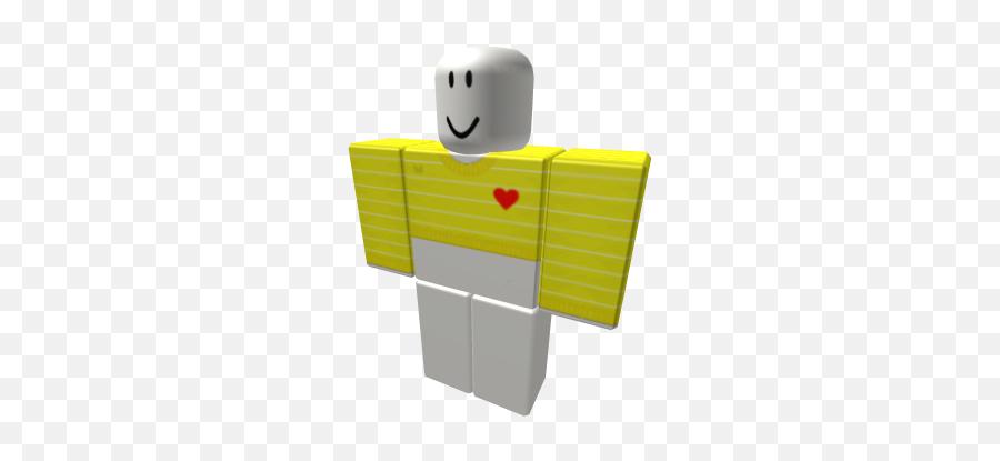 Yellow White Striped Croptop W Heart Emoji - Leah Ashe Merch Roblox
