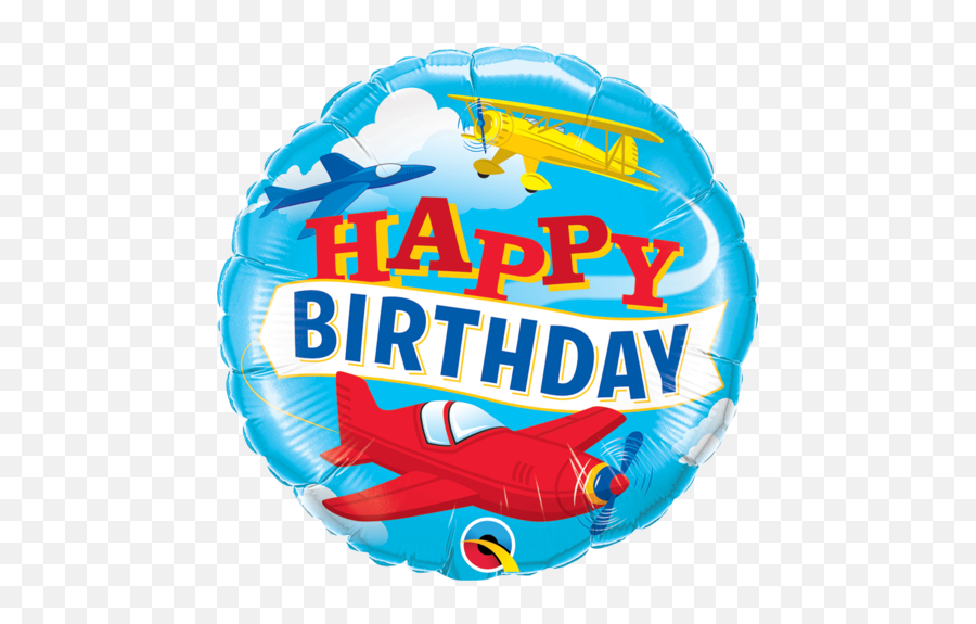 Birthday Balloons Gifts And Party - Happy Birthday With Airplanes Emoji