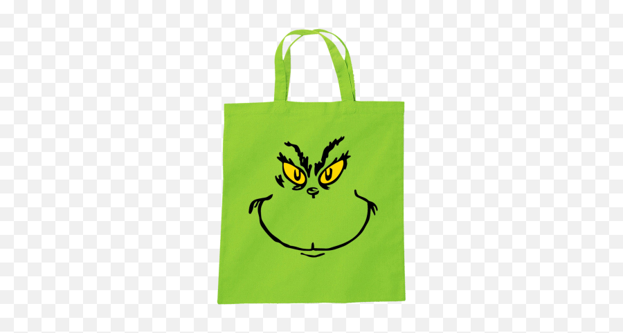 The Grinch Inspired Tote Bag - Grinch Face Template Emoji
