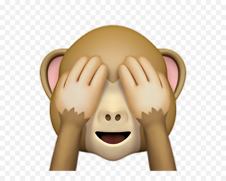 Monkey Emoji 1 Monkey Eyes Emoji Emoticon Iphone - Monkey Covering Eyes Emoji