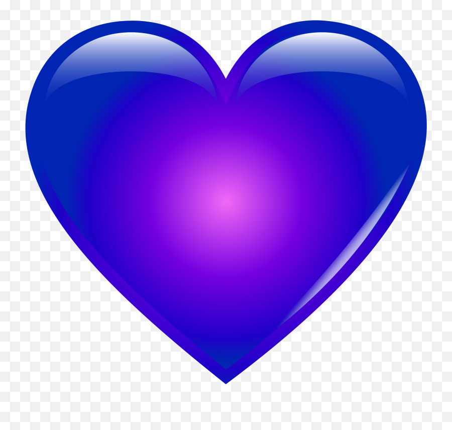 Heat Clipart Color Heart Heat Color Heart Transparent Free - Purple And Blue Heart Emoji