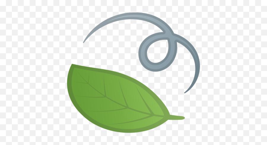 Leaf Fluttering In Wind Emoji - Wind Leaf Icon