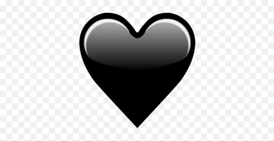 Emojipedia Heart Iphone - Ios Black Heart Emoji