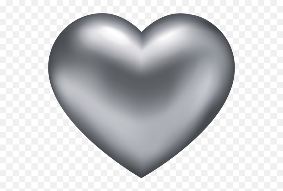 Heart Png Free Images Download - Silver Heart No Background Emoji