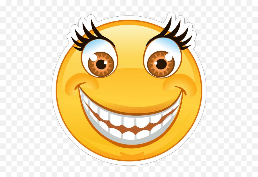 Crazy Wide Eyes Big Smile Emoji Sticker - Crazy Emoji