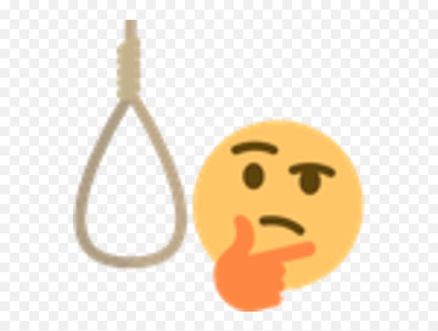 Noose Emoji Free Noose Emoji - Thinking Emoji With Noose