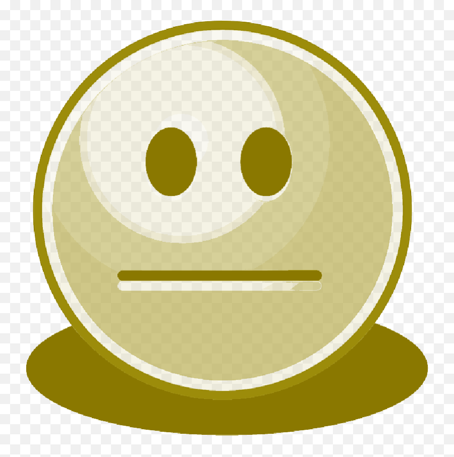 Plain Dull Blank Smiley Yellow - Portable Network Graphics Emoji