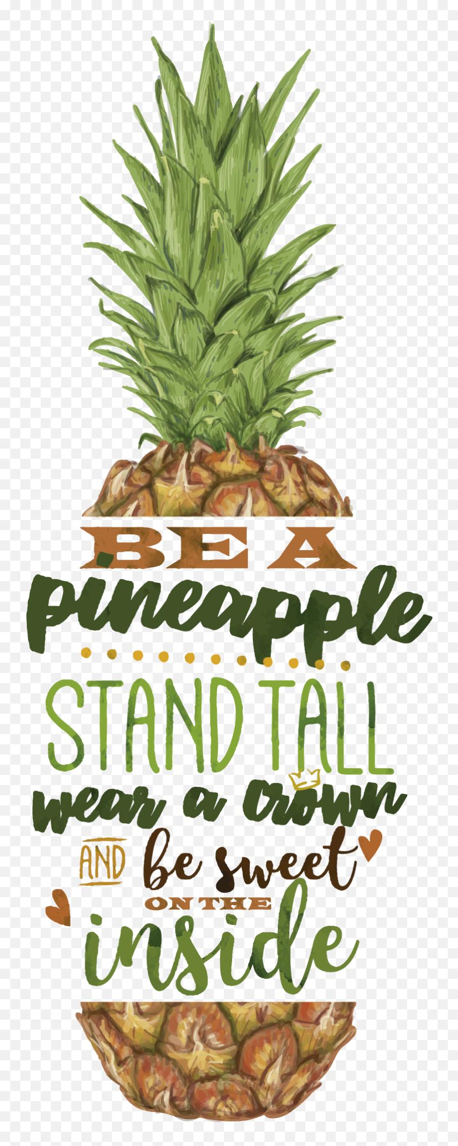 Transparent Pineapple Emoji Png - Ananas Sprüche Englisch