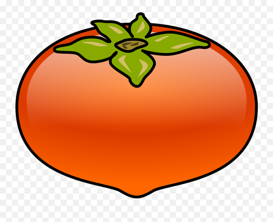 Free Tomato Food Vectors - Clipart Picture Of Persimmon Emoji,What Does The Peach Emoji Mean