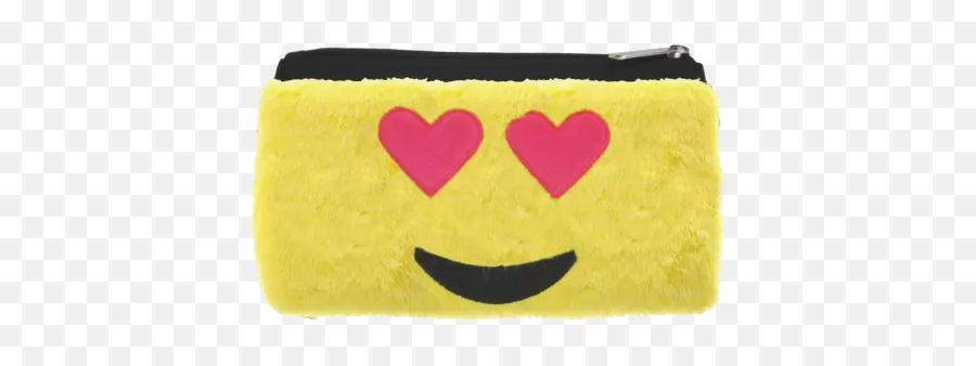 Heart Eyes Emoji Furry Pencil Case - Smiley