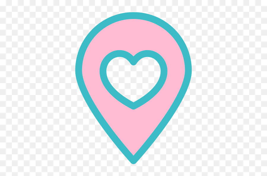 Double Heart Icon At Getdrawings - Location Pin Transparent Heart Emoji