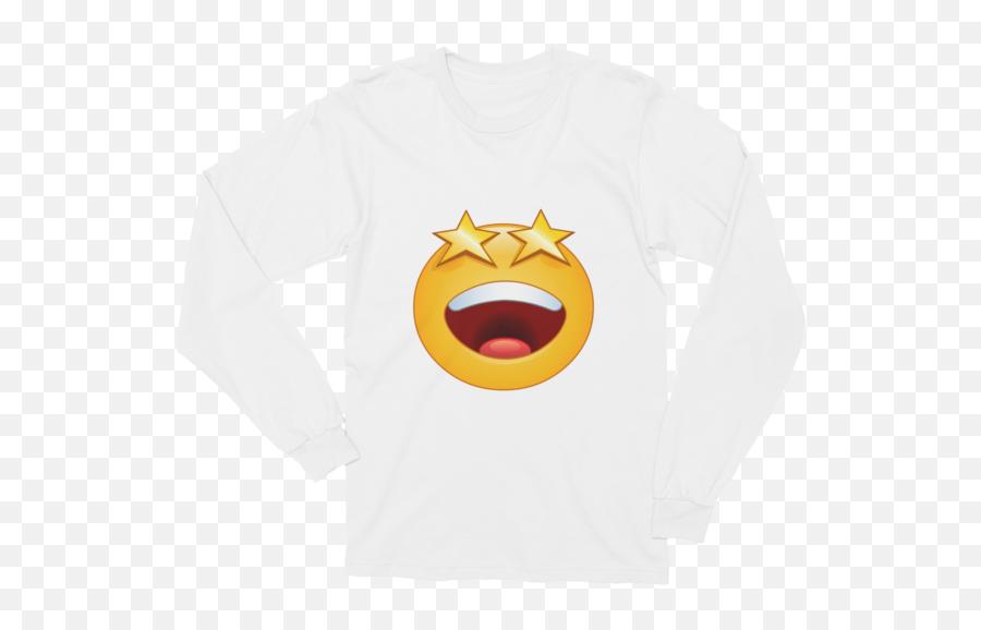 Unisex Stars Eyes Emoji Long Sleeve T - Smiley