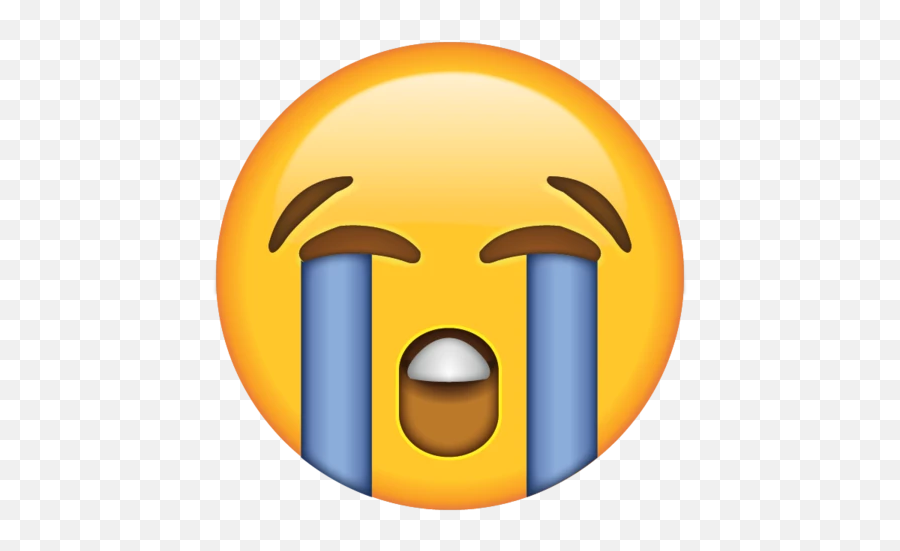 Loudly Crying Face Emoji - Crying Emoji Transparent Background,Emoji