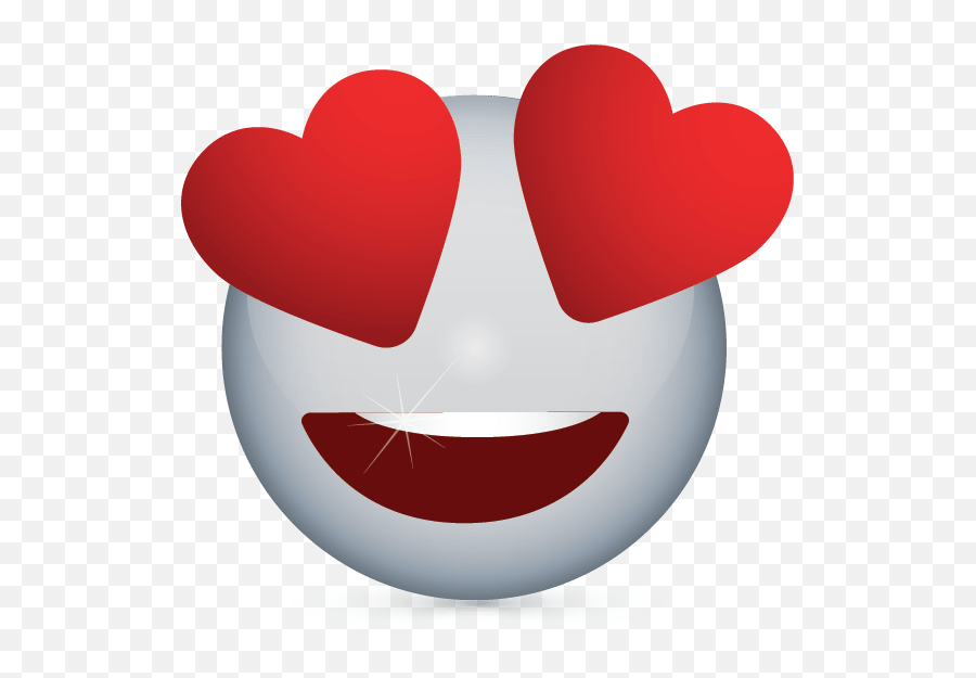 Create Free Heart Eyes Emoji Logo Online Logos Maker - Emoticon Heart Png