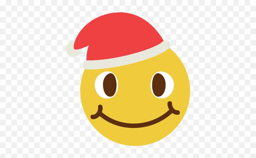 Smiling Santa Claus Hat Face Emoticon 4 - Smiley Face Santa Hat Vector Emoji,Santa Emoticon