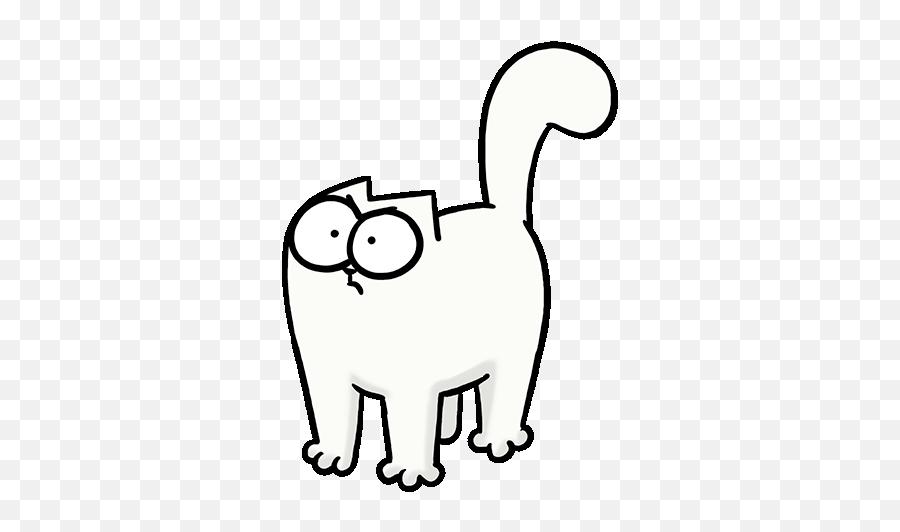 Simons Cat - Cat Angry Gif Emoji,White Cat Emoji