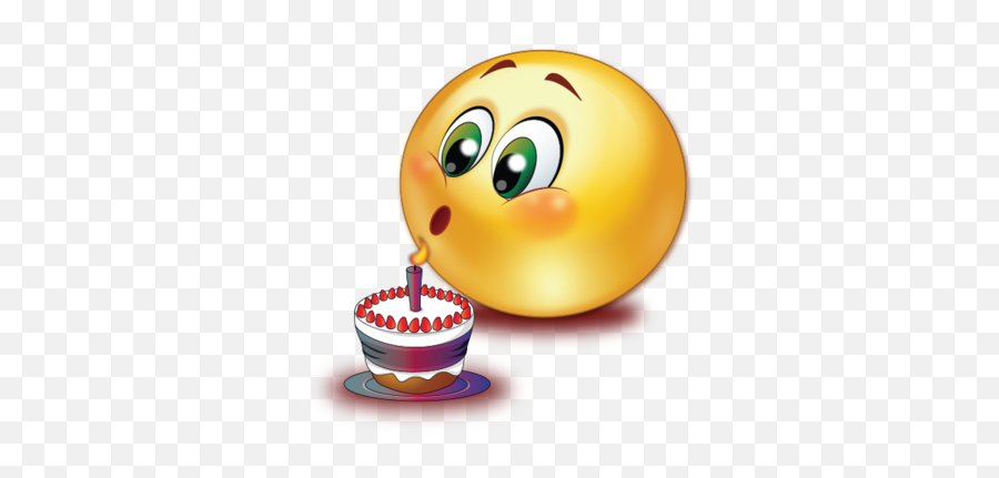 Birthday Cake Blowing Candle Emoji - Birthday Emoji Clip Art