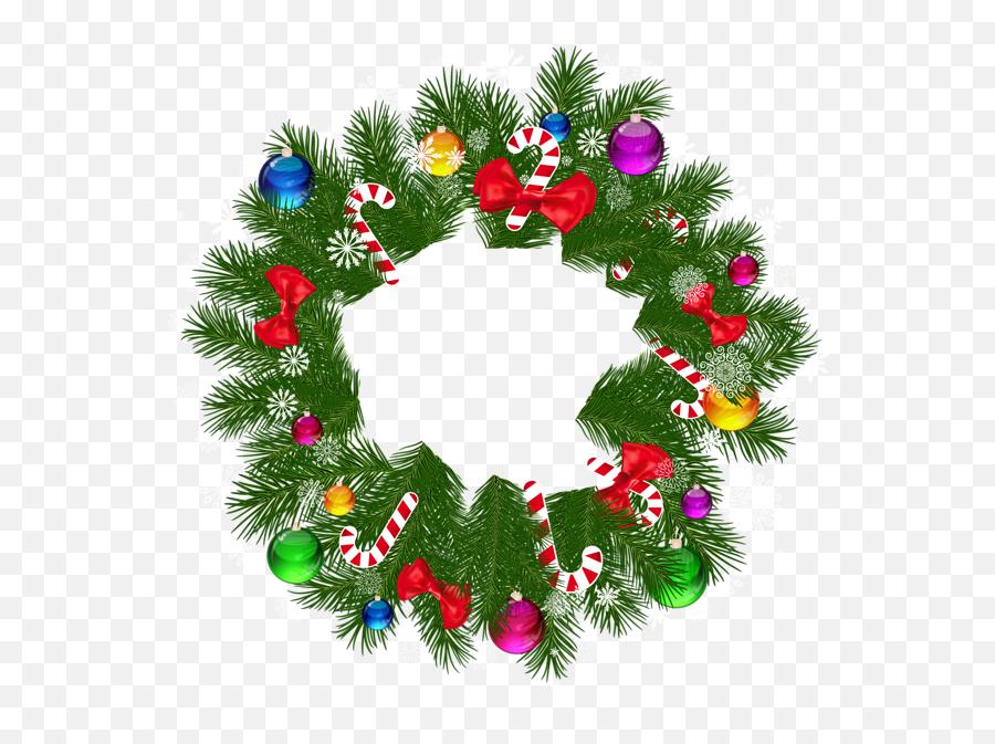 Christmas Wreaths Christmas - Christmas Wreath Clipart Png Emoji,Christmas Tree Emoticon