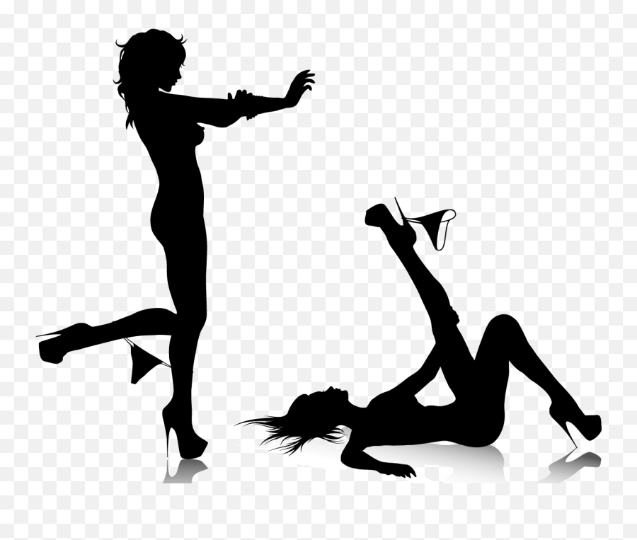 Pinup Vector Woman Transparent Png - Naked Girl Silhouette Png Emoji,Naked Girl Emoji