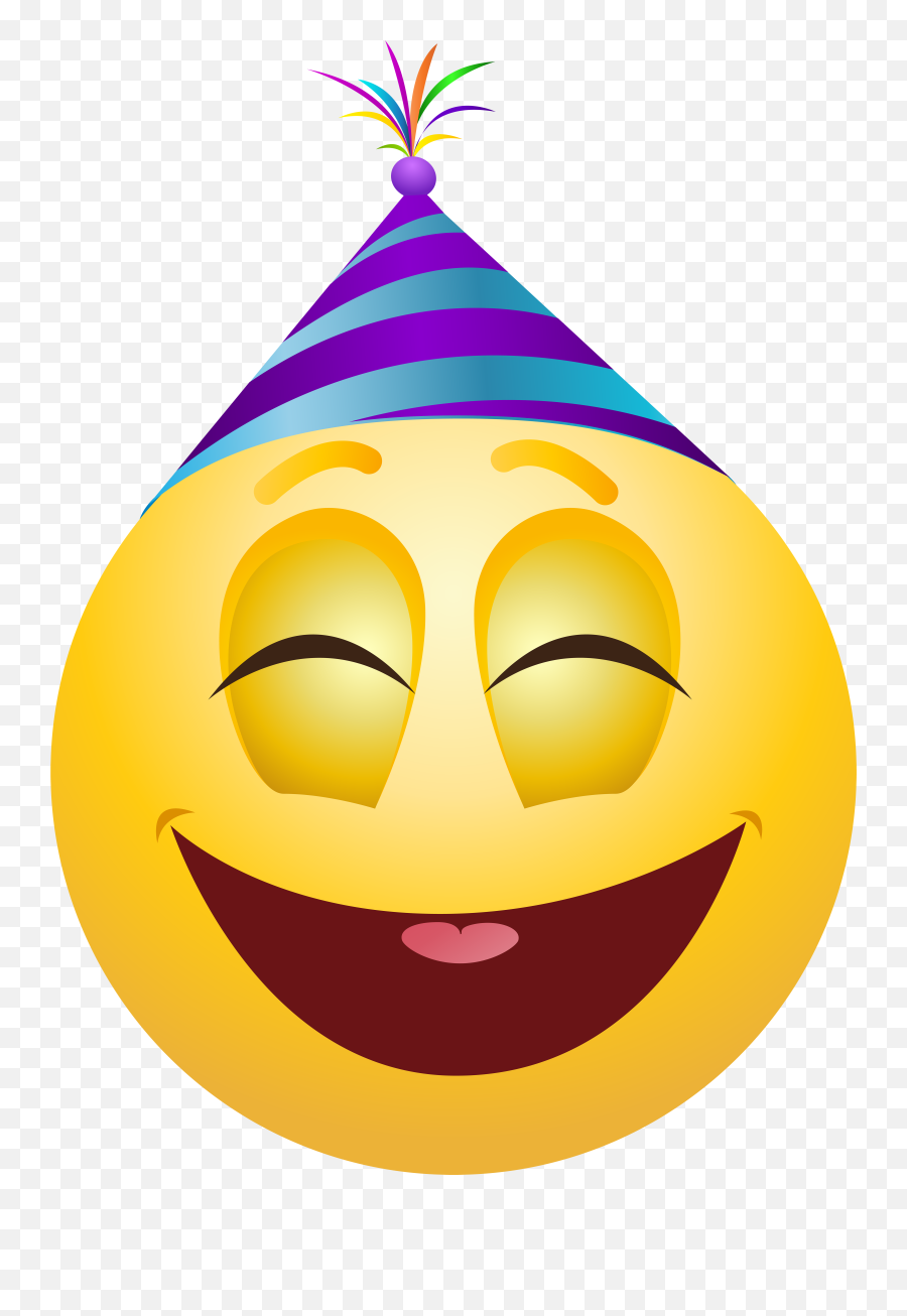 Pin - Emoji Party Hats Png