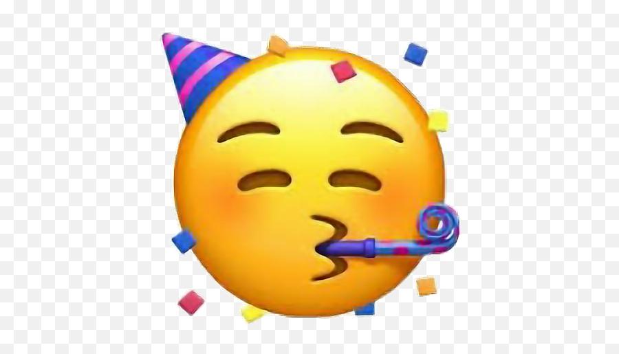 Party Stickers Birthday Happy Emoji Girl Freetoedit - Party Hat Emoji Transparent