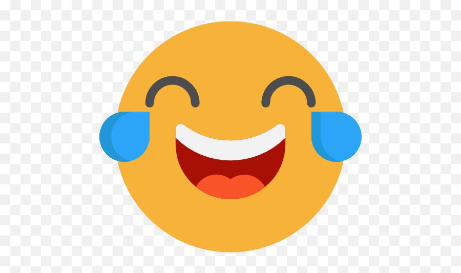 Laughing Emoticons Emoji Feelings Smileys Icon - Laughing Face No Background,Laughing Emoji