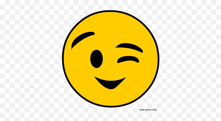 Free Emoji Clip Art - Wink Emoji Clip Art,Silly Emoji