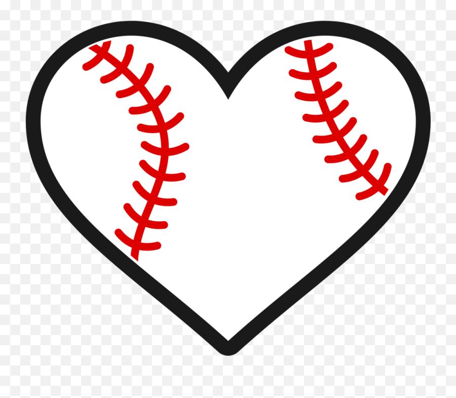 Softball Stitches Heart Transparent - Baseball Heart Svg Free Emoji