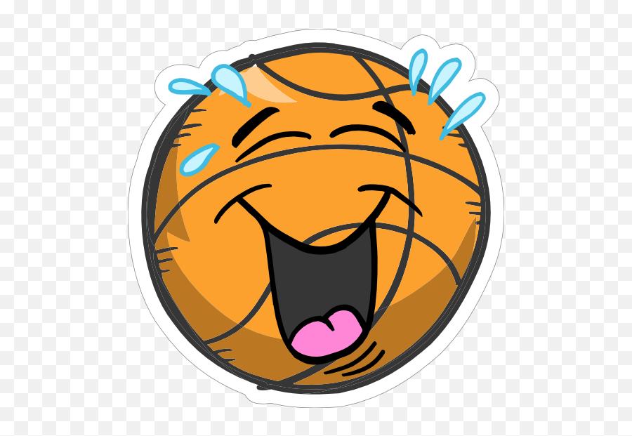 Laughing Emoji Basketball Sticker - Clip Art,Laughing Emoji