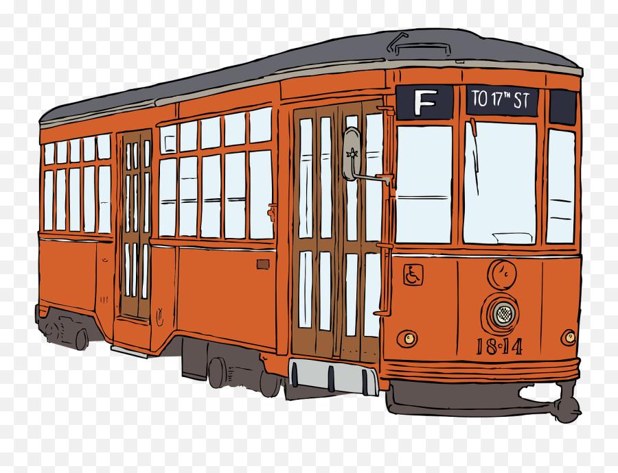 Tram Streetcar Transportation Public Transport Electric - Streetcar Clipart Emoji,What Does The Peach Emoji Mean