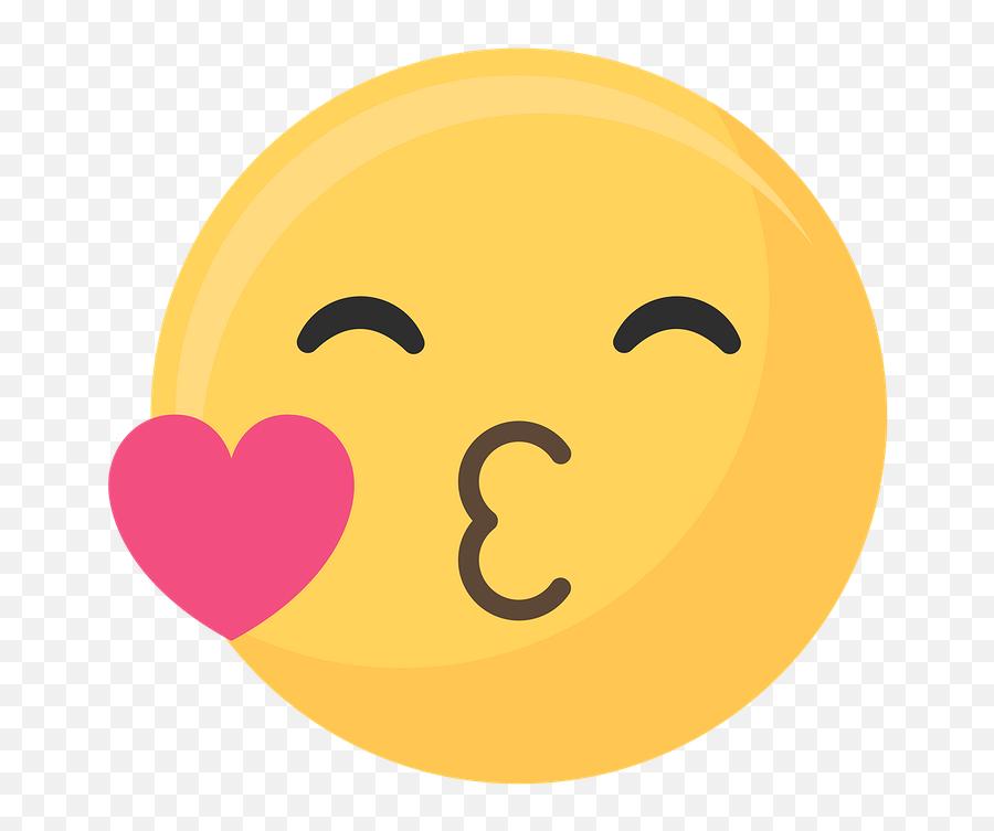 Download Premium Vector Of Smiley Face Emoticon Symbol Vector 1230157 - Kiss Emoji