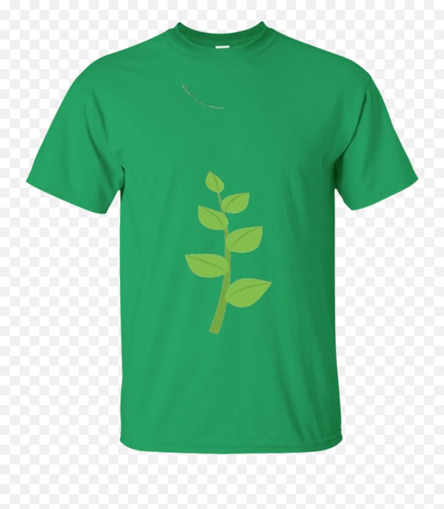 Herb Emoji T - Green T Shirt Png