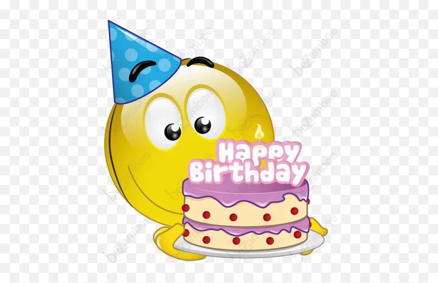 Happy Birthday Emoticon Animated - Smiley Happy Birthday Png Emoji
