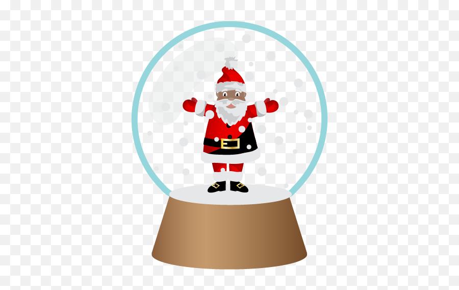 Black Santa - Santa Claus Emoji,Black Santa Emoji
