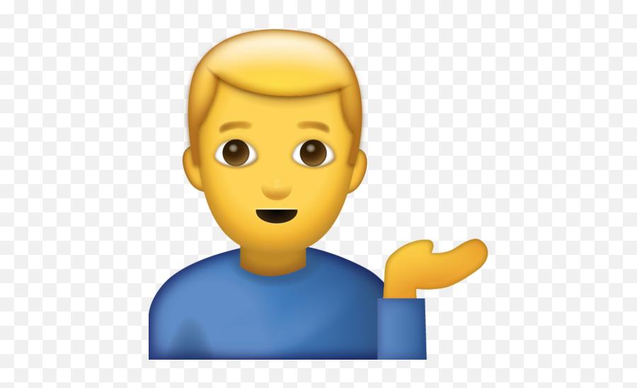 Helping Desk Man Emoji Download Iphone - Transparent Man Emoji